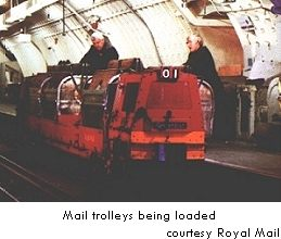 Mail Trolleys being loaded